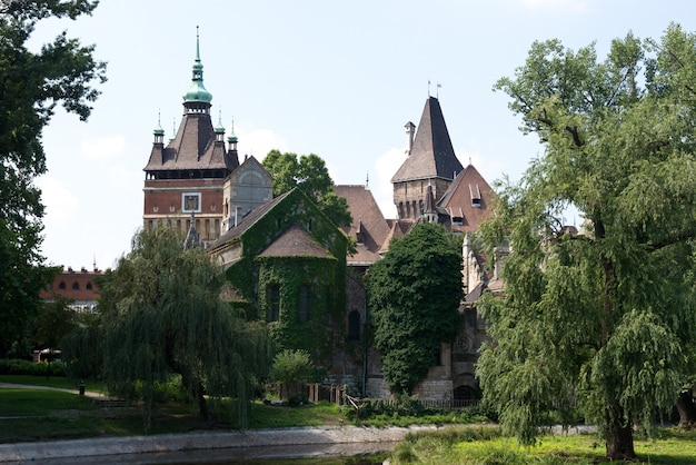 The vajdahunjad castle in budapest