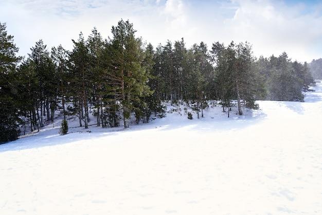 Valdelinares ski area in teruel at spain