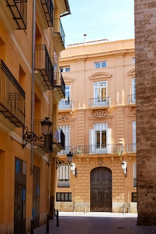 Valencia barrio del carmen street facades spain