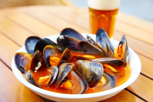 발렌시아 clochinas 찜 홍합 전형적인 음식