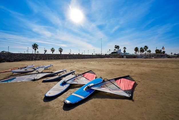 Valencia la malvarrosa beach arenas spain