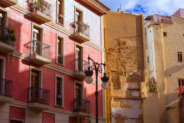 Valencia old town near mercado central market spain