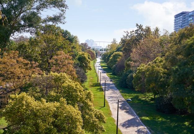 Valencia turia park gardens view