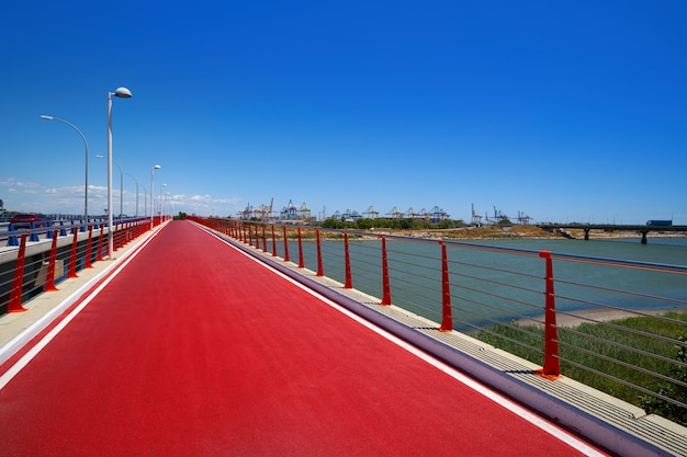Valencia turia river bike track pinedo