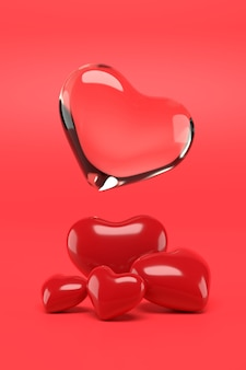 Valentine background design. 3d rendering.