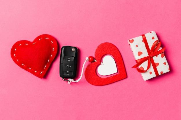 Valentine cheerful in holiday decoration.
