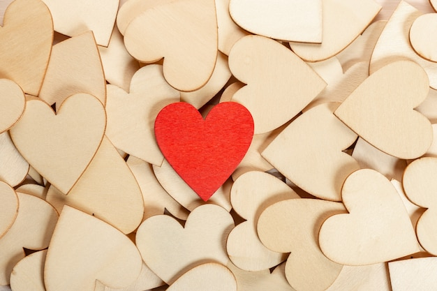 バレンタインデートの背景。愛の概念