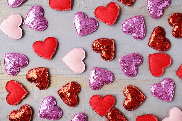 Valentine day background with hearts.