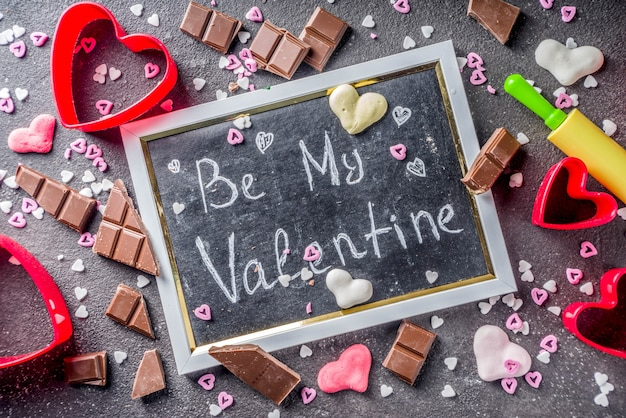 Valentine day blackboard