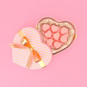 Valentine day illustration 3d render