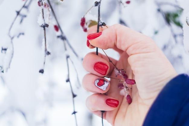 Valentine day nail art design manicure