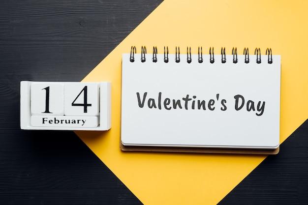 겨울 달 달력 2 월의 발렌타인 데이.