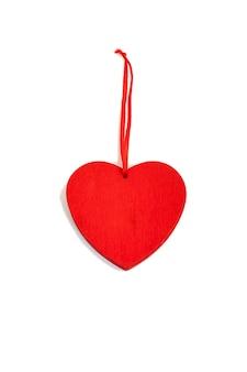 흰색 바탕에 발렌타인 하루 나무 붉은 마음.