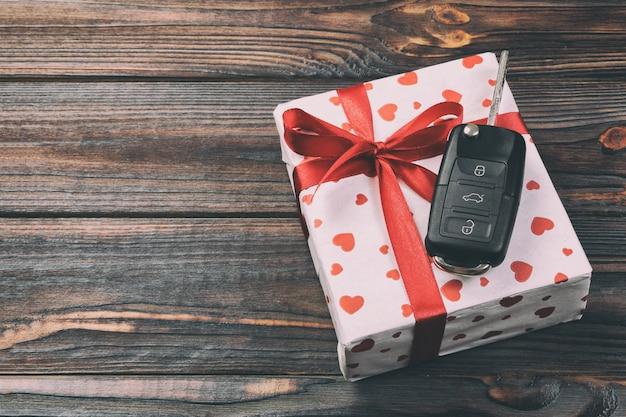 Valentine, gift box in wrapper