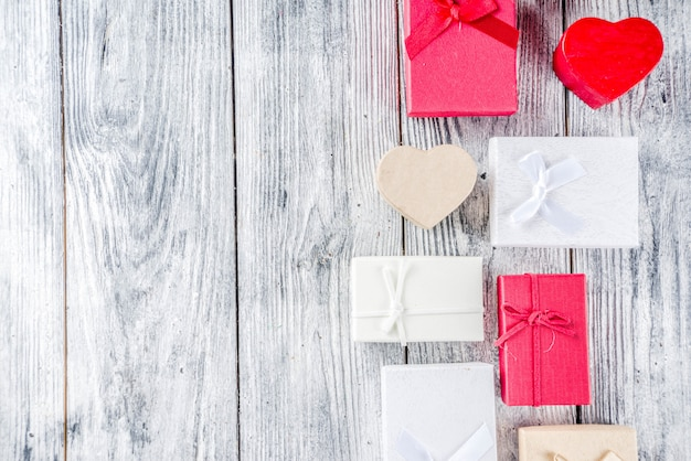 Valentine gift boxes background