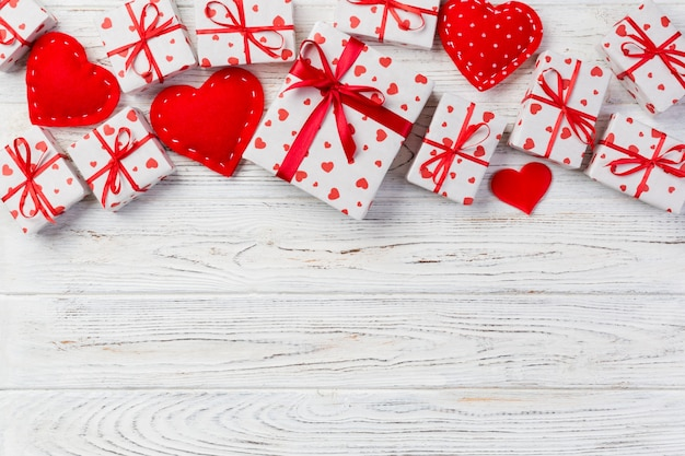Valentine gift in holiday decoration