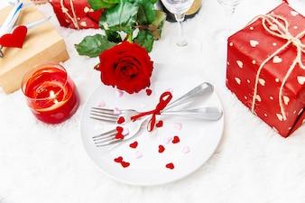 День святого Валентина. Прекрасная подарочная поездка. Выборочный фокус.