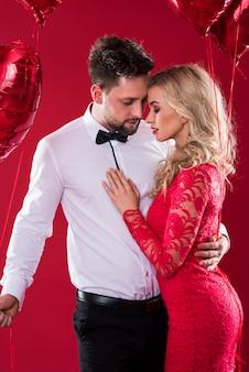 San valentino e abbondanza di palloncini