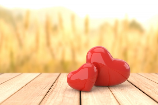Valentine's day background, 3d rendering.