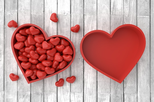 Valentine's day background. 3d rendering.