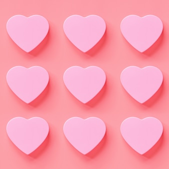 Valentine's day background with pink hearths