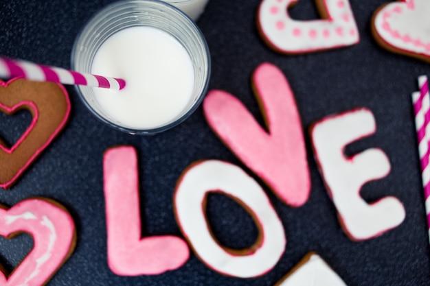 Valentine's day baking background