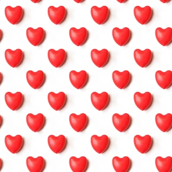 バレンタインデーの作文。赤いハートのシームレスなパターンパターン。愛の概念。