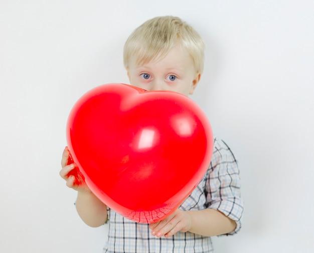 Valentine's day concept. lovely boy