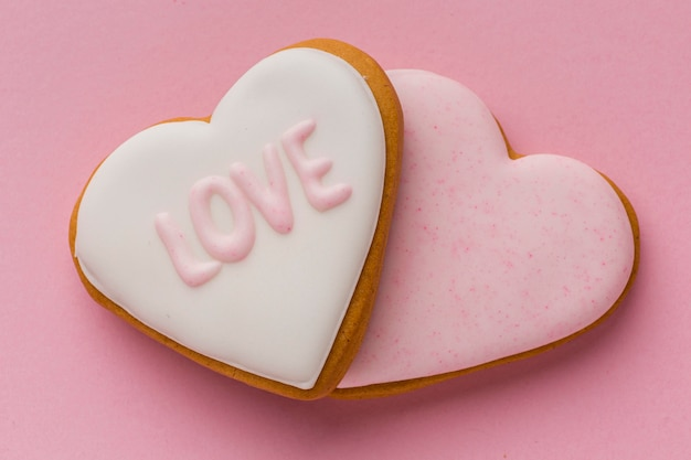 Valentine's day concept with delicious cookies