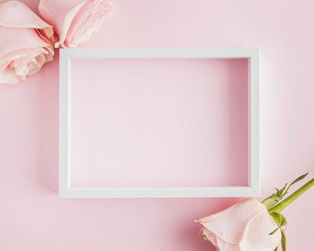 Valentine's day concept with frame