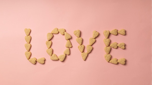 Valentine's day cookie lettering