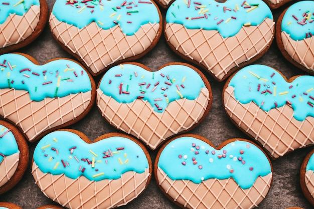 バレンタインデーのクッキーの背景