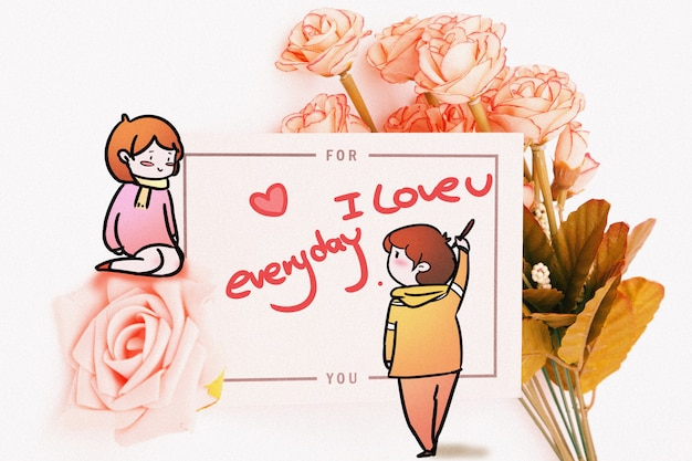 Valentine's day: creative photography illustration mixed