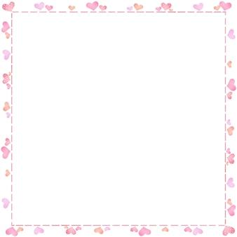 День святого валентина дизайн с милой рамкой в виде сердечек