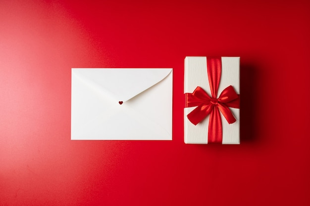 Valentine's day envelope and gift