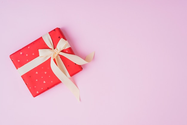 Valentine's day gift with cute ribbon