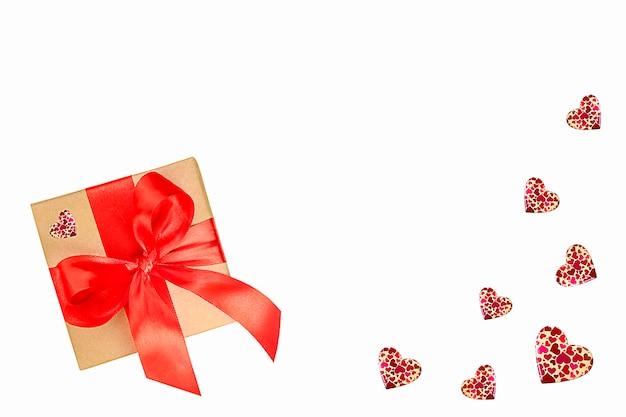 Подарок ко дню святого валентина с сердечками