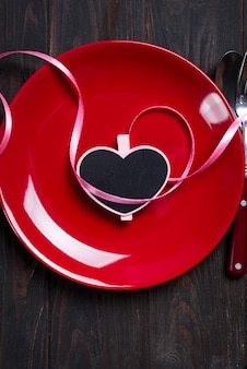 Valentine's day heart on a plate