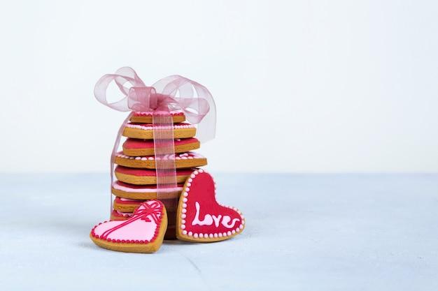 День святого валентина печенье в форме сердца.