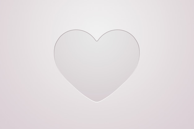 Valentine's day holiday card with heart on a light