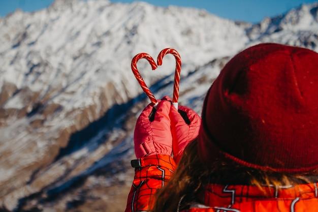 День святого валентина в горах.