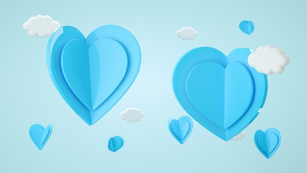Valentine's day mock up scene. shape for display product, present and advertising. 3d rendering