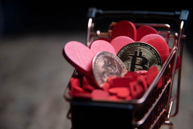 Valentine's day and money business concept