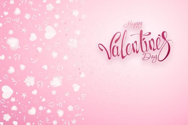 Valentine's day on pink