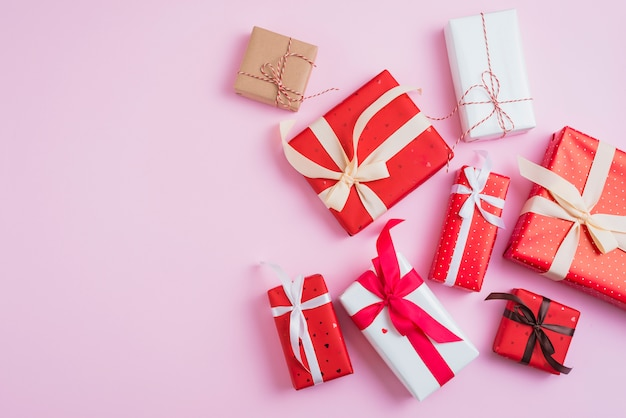 Valentine's day presents in beautiful wrappings