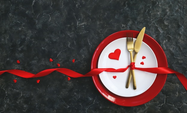 Valentine's day romantic dinner congratulation.