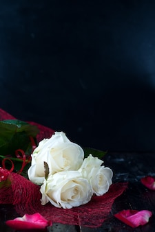 발렌타인 장미와 샴페인