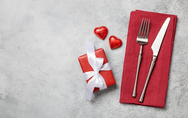 Valentine's day setting table