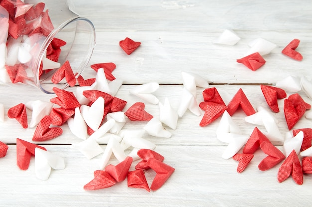 Valentine's day symbolizing love paper heart