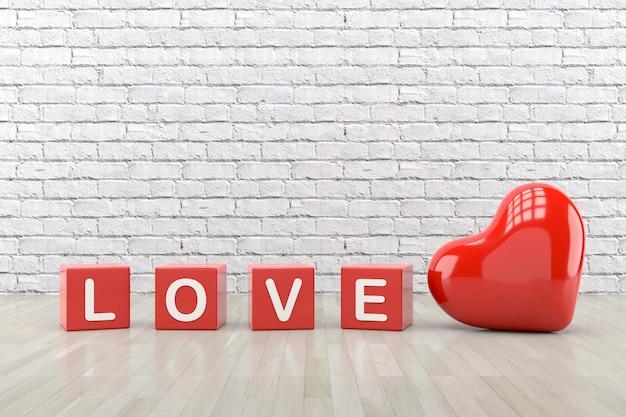 バレンタインデーの壁紙デザイン。 3dレンダリング。